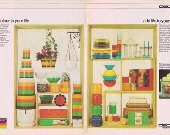 1976 Retro Decor Containers Homewares Advertisement Retro Advert New Idea Womens Magazine Home Decor