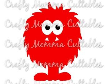 Monster SVG // Little Monster SVG // Birthday Monster SVG // Monster png // Litte Monster svg // cuttable design // silhouette file // cut