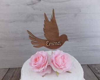 "cake topper ""dove"" - wedding  / cake topper  / marriage  / wedding / decoration / birthday / communion"