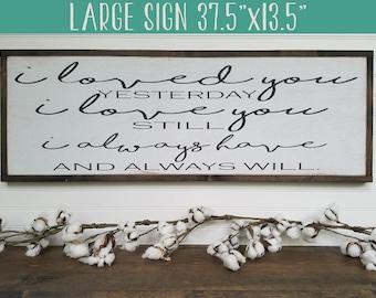 I Love You - Wedding Sign - Wedding Gift - Anniversary Gift - Bedroom Decor