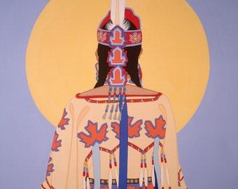 12 Blank Inside Note Cards - Native Women