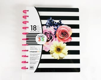 Create 365 18 Month Big Happy Planner 8.5in x 11in / 2017 Planner / Me and My Big Ideas / Bullet Journal / Personalized Planner