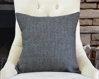 Dark Green Wool Pillow Cover