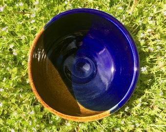 Conjure | Unique Handmade Dessert Bowl | Soup Bowl | Blue and Gold Bowl | Ceramic | Pottery