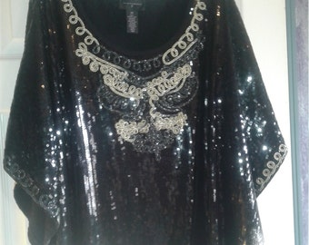 Half price sequin 2X top~ just like New! Ships FAST & FREE!