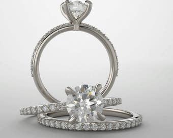 Moissanite Engagement Ring (Forever One)