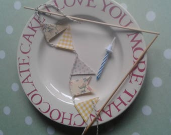 Cake bunting, cake topper, cake decoration, cake bunting flags