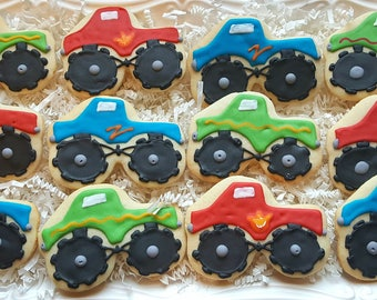 12 Monster Truck Cookies Party Favors