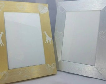 Personalized Gold/Silver Metal Frame