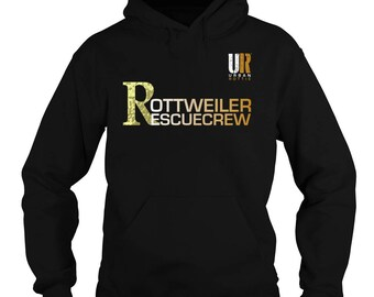 URBAN ROTTIE© Rottweiler Rescue Crew Hoodie,rottweiler t-shirt,rottweiler tees,rottie tees,rottweiler shirts,rottweiler fans,urban rotties