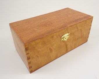 Curly Mahogany & Bubinga trinket box