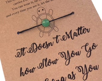 TURTLE ENCOURAGEMENT Inspirational Bracelet