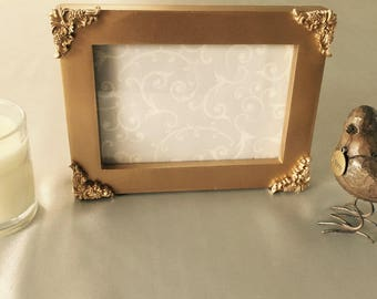 Antique looking Gold painted frame