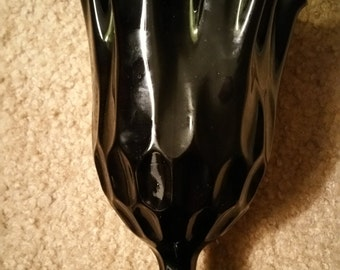 Black Amethyst Glass Vase