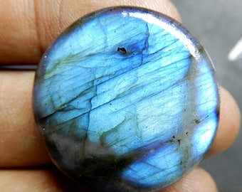 Blue Flash Natural Labradorite Round Shape 22x22 MM Size AAA Quality Round Smooth Cabochon Nice blue flash In Whole sale prize L3