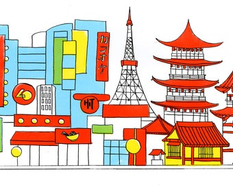 Tokyo Silkscreen Print