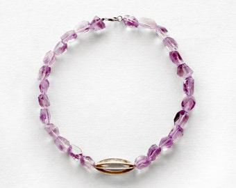 Amethyst necklace february birthstone amethyst crystal healing crystal purple crystal raw amethyst amethyst jewelry crystal necklace boho