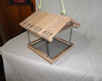 Large Palletwood Hanging Birdfeeder - pallet wood - reclaimed lumber - natural - bird feeder - rustic