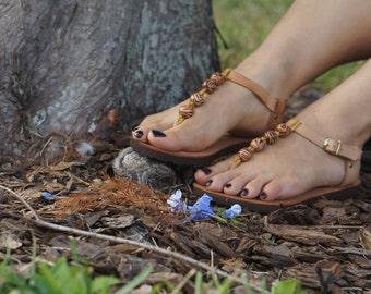 JADE. Handmade Leather Sandals /Women's Shoes /Comfort Birk Sole Sandal /Boho Chic Shoes. Sizes 6-11