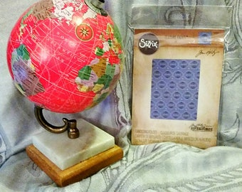 Clearance! Tim Holtz Alterations Sizzix Texture Fades ~Globes~ 660241