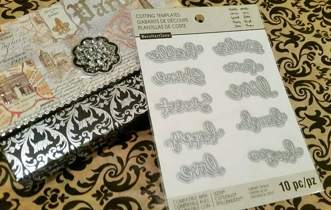 Recollections word script 10 pc crafting cut and emboss description recollections pronofoot35fo Gallery