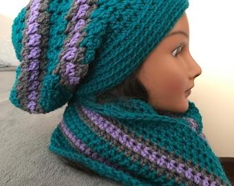 Women's Slouch Hat & Infinity Scarf set