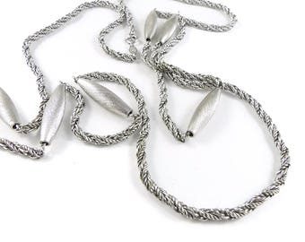 Silver necklace, Grosse silver necklace, necklace from Germany, costume jewellery, 1974 necklace Groose, vintage 1970's necklace.