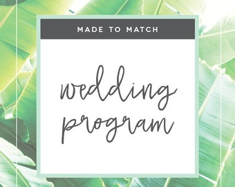Extras - Wedding Program