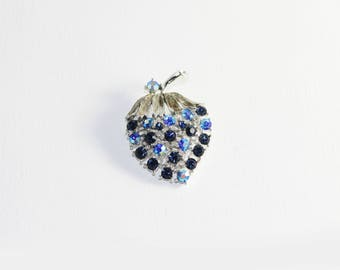 Blue Fruit Brooch