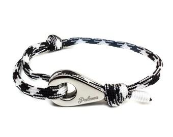 STOCKHOLM - White Paracord Pulley Bracelet -- Bangles, Bracelets Joncs, Charm Bracelets, Bracelets Charms, Leather Bracelet, Bracelet cuir