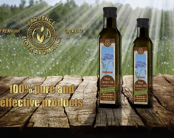 Flora Aromatics Organic Flax Seed Oil Cold Pressed Virgin 16.9 FL OZ / 500ml