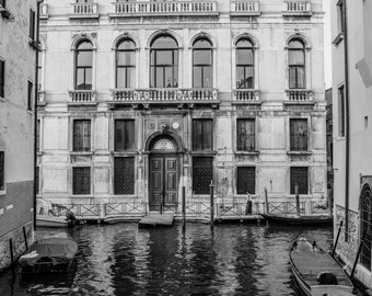 Venice Photography, Italy Photo, Venice Canals, Fine Art Print, Black and white, Italy Print, Venice Print, Venice Wall Art, B&W