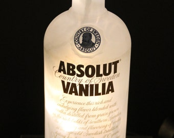 Absolut Vanilia Vodka Bottle Lamp