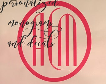 Personalized Monograms and Decals