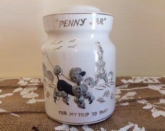 Vintage Ceramic Penny Jar Bank - Tilso Co - Made in Japan