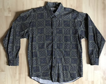 Vintage 90s Bugle Boy Paisley button up shirt large