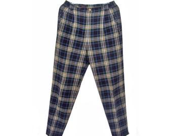 Vintage Weekend by Basler women wool pants checked CA12413