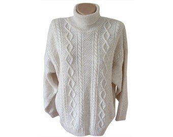 Vintage Monte Carlo Mode women blouses sweater pullovers ivory Made in Italy