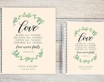 Custom Wedding Planner, Wedding Book, Bridal Organizer, Great Engagement Gift, Wedding Planning, Custom Engagement Gift, Love Never Fails