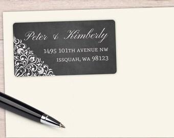 Address Labels, custom address labels, mailing labels,  personalized labels, return address labels, wedding address labels, elegant scrolls