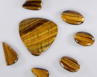 Natural Brown Tiger's Eye  Gemstone 7 pcs 239 crt lot polish finished Cabochon Gemstone for jewelry making