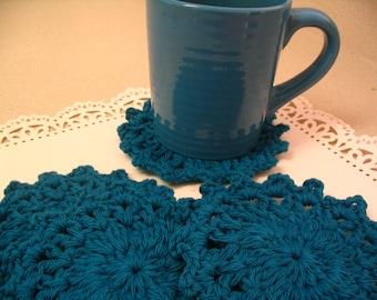 4 Piece Crochet Coaster Doily Set Tea Coasters Coffee Mug Coaster Home Decor Coaster Collection 1