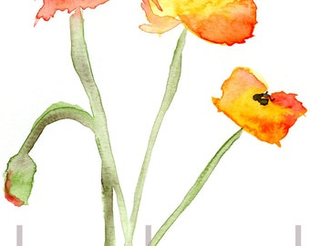 Red Poppies 1 Watercolor