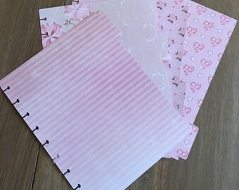 4 Happy planner dividers romantic pink