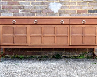 Vintage Teak 6ft Sideboard Cabinet Nathan Mid-Century Danish Era 1970s Retro