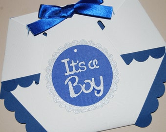 Diaper Baby Boy Shower Invitation