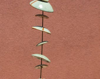 Ceramic Windchimes - approx 4  Feet