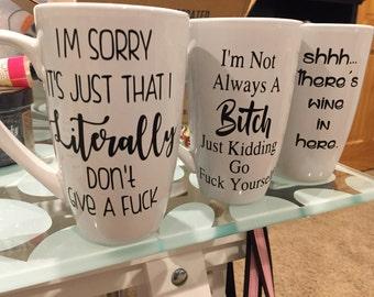 Custom made offensive coffee mugs
