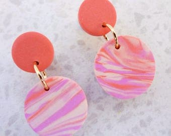 Girls Fairy Floss Earrings / Clip-on Earrings / Stud Earrings / kids earrings / Girls Earrings