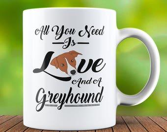 Greyhound Mug - Greyhound Coffee Mug - Greyhound Dog Mug - Cute Dog Mug - Dog Lover Gift - Dog Lover Mug - Present - Birthday Mug